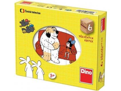 DINO Obrázkové kostky Pohádky, 6 kostek