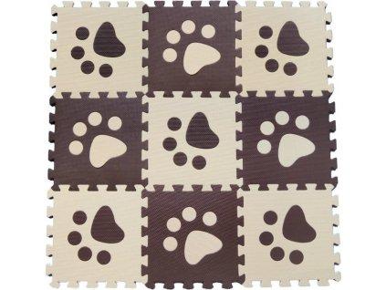 Pěnové BABY puzzle Hnědé tlapky B (29,5x29,5)