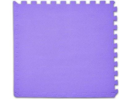 BABY Pěnový koberec tl. 2 cm - fialový 1 díl s okraji