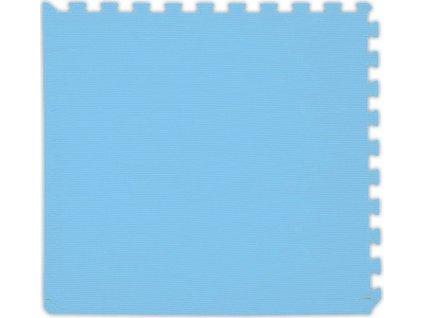 BABY Pěnový koberec tl. 2 cm - světle modrý 1 díl s okraji