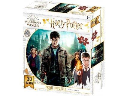 PRIME 3D Puzzle Harry Potter: Harry, Herminona & Ron 3D 500 dílků