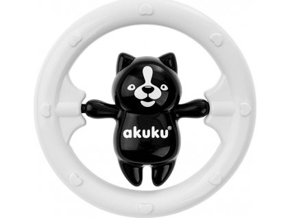 Chrastítko Akuku medvídek černobílý