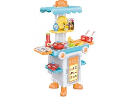 Dětská rozkládací kuchyňka autobus Bayo + příslušenství