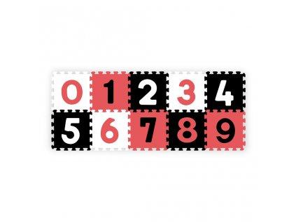 Pěnové puzzle 30x30 cm 10 ks Baby Ono čísla