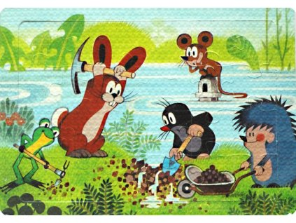 Pěnové puzzle Krtek a kamarádi zachraňují myšku 24 dílků