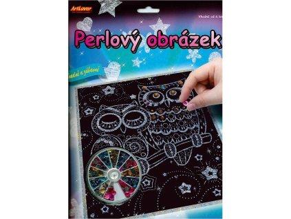 ARTLOVER Perlový obrázek Sovy 20x25cm