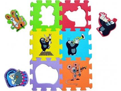 Pěnové puzzle Krtek - hudební nástroje (15x15)