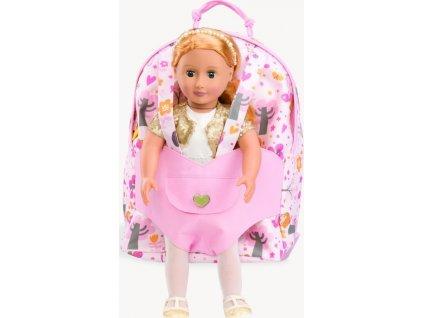 ´´Hop a jdeme´´ - batůžek s klokankou na panenku