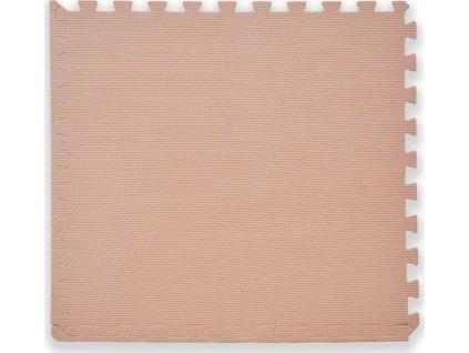 BABY Pěnový koberec tl. 2 cm - béžový 1 díl s okraji