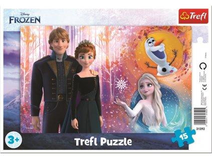 TREFL Puzzle Ledové království: Šťastné vzpomínky 15 dílků