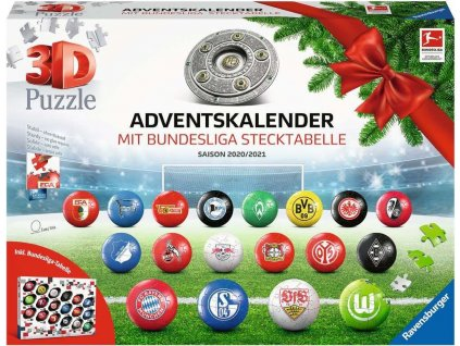 RAVENSBURGER Puzzleball Adventní kalendář Bundesliga 2020,2021 486 dílků