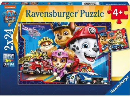 RAVENSBURGER Puzzle Tlapková patrola: Záchranáři 2x24 dílků
