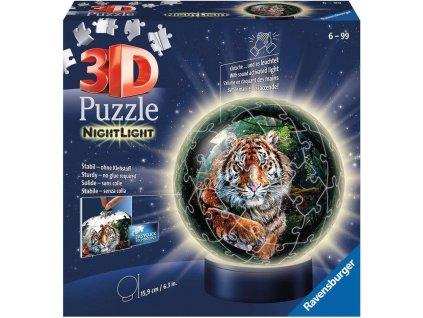 RAVENSBURGER Svítící puzzleball Tygr 72 dílků