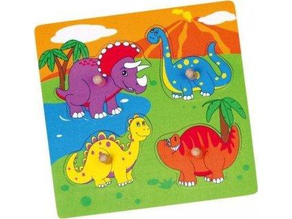 BABU Vkládačka Veselí Dinosauři