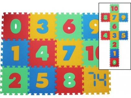 MALÝ GÉNIUS Pěnové puzzle MAXI Čísla 8mm (mix-4)