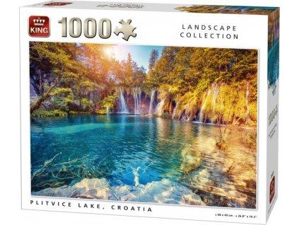 KING Puzzle Plitvická jezera, Chorvatsko 1000 dílků