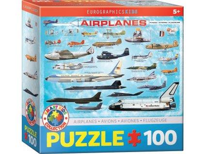 EUROGRAPHICS Puzzle Letadla 100 dílků