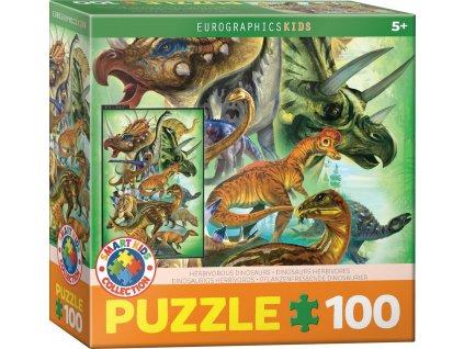 EUROGRAPHICS Puzzle Býložraví dinosauři 100 dílků