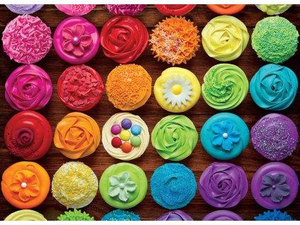 EUROGRAPHICS Puzzle Dortíková duha 1000 dílků (Cupcake)