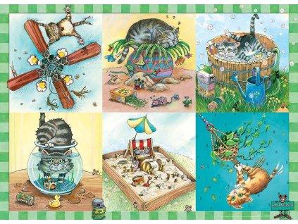 EUROGRAPHICS Puzzle Koťátko a jeho trable 100 dílků