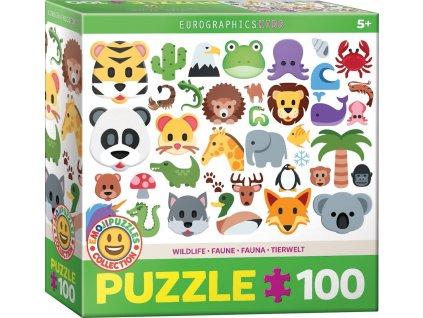EUROGRAPHICS Puzzle Emoji zvířátka 100 dílků