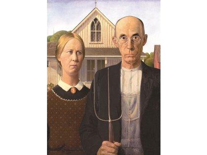 EUROGRAPHICS Puzzle Americká gotika 1000 dílků