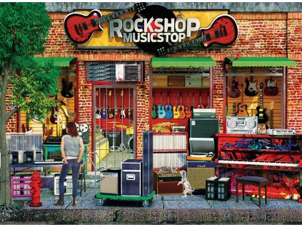 EUROGRAPHICS Puzzle Rock Shop 1000 dílků