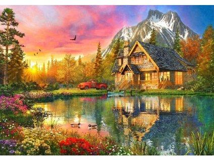 BLUEBIRD Puzzle Horská chata 1000 dílků