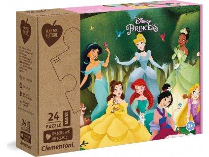 CLEMENTONI Play For Future Puzzle Disney princezny MAXI 24 dílků