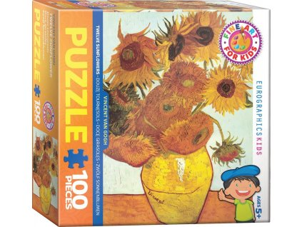 EUROGRAPHICS Puzzle Dvanáct slunečnic 100 dílků