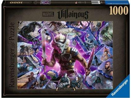 RAVENSBURGER Puzzle Marvel Villainous: Killmonger 1000 dílků