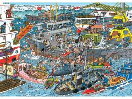 JUMBO Puzzle Námořní přístav 500 dílků