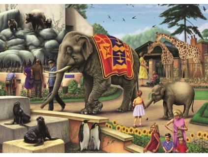 FALCON , JUMBO Puzzle Den v zoo 1000 dílků