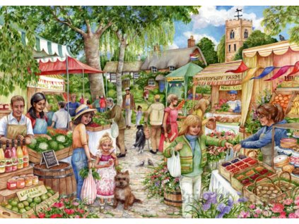 FALCON , JUMBO Puzzle Farmářské trhy 1000 dílků