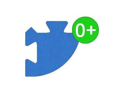 MALÝ GÉNIUS Rohový dílek silný 0+ (modrý)