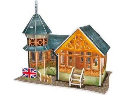 CUBICFUN 3D puzzle Britská vila 25 dílků