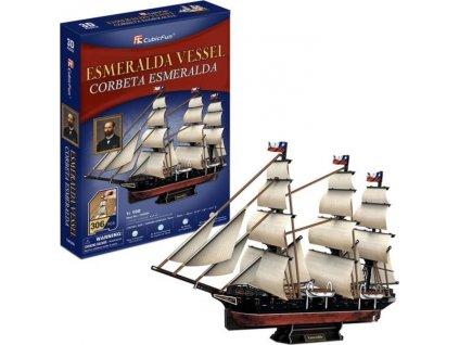 CUBICFUN 3D puzzle Loď Esmeralda 306 dílků