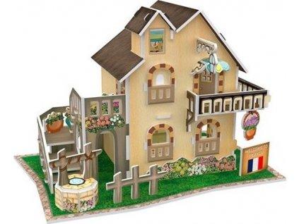 CUBICFUN 3D puzzle Francouzský zahradní domek 36 dílků