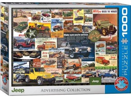 EUROGRAPHICS Puzzle Reklamní plakáty: Džípy 1000 dílků