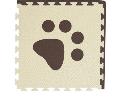 Pěnový BABY koberec - hnědá,béžová 1 díl