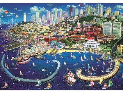 TREFL Puzzle Přístav v San Franciscu 2000 dílků