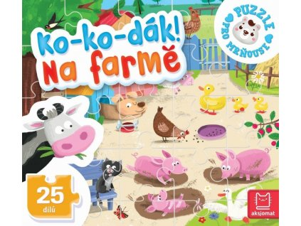 AKSJOMAT Puzzle pro mrňouse: Ko-ko-dák! Na farmě
