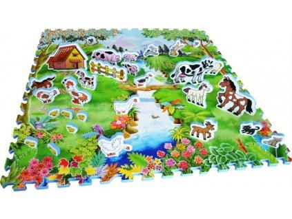 LC Pěnový koberec se zvířátky Dvorek