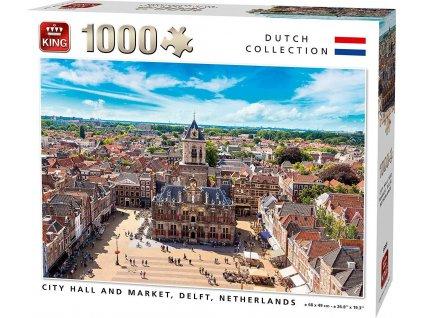 KING Puzzle Delftská radnice, Nizozemsko 1000 dílků