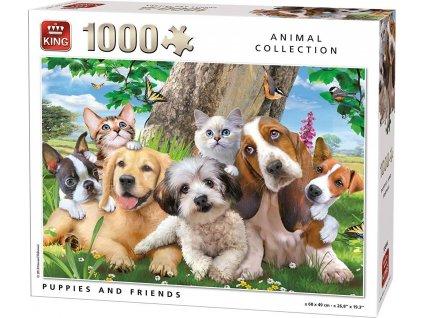 KING Puzzle Chlupatí přátelé 1000 dílků