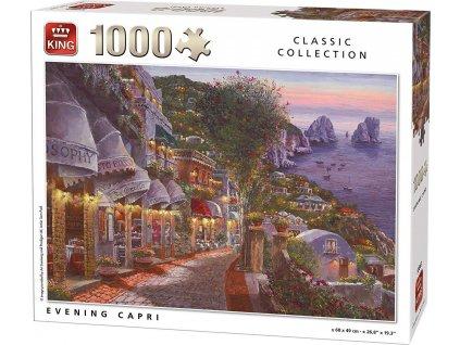 KING Puzzle Noční Capri 1000 dílků