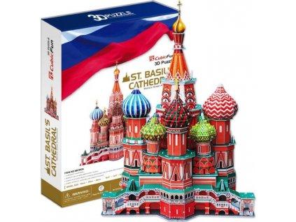 CUBICFUN 3D puzzle Chrám Vasila Blaženého 184 dílků
