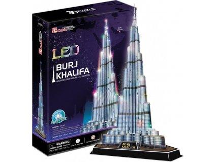 CUBICFUN Svítící 3D puzzle Burdž Chalífa 136 dílků