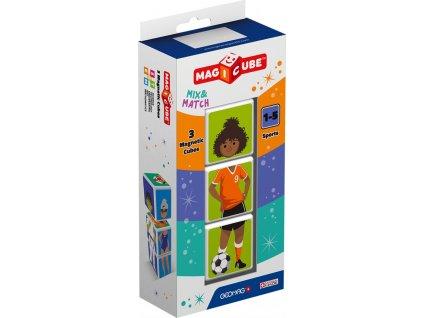 GEOMAG Magnetické kostky Magicube Mix&Match Sport, 3 kostky