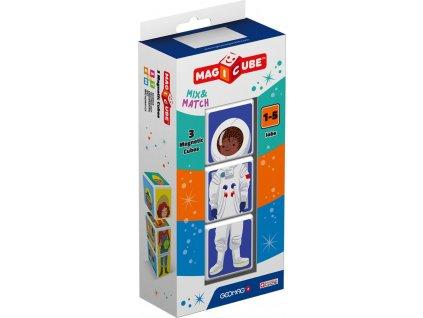 GEOMAG Magnetické kostky Magicube Mix&Match Povolání, 3 kostky